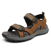 Men Cowhide Breathable Opened Non Slip Comforty Casual Outdoor Sandals