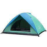 Tienda al aire libre para 2 personas Impermeable Capa doble UV Sombrilla Refugio Toldo cámping Senderismo