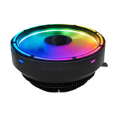 Coolmoon Glory colorful RGB CPU cooler 3Pin 12V 120MM fan Support to AMD FM2/FM1/AM3+/AM4/AM2/940/939 and Intel LGA 151X/775