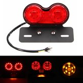 LED Placa de matrícula Freio Tail Turn Signal Dual Light para Motocicleta Bobber Cafe
