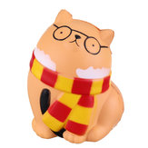 Squishy Glasses Orange Cat 11.5CM Slow Rising Rebound Toys With Packaging Gift Decor