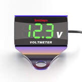 12-150 V LED Display Digitale Voltmeter Voltage Gauge Panel Meter Met Beugel Voor Motorfiets Scooter Auto