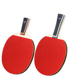BOLI 7 Ply Pure Wood Table Tennis Racket Double Face Pimples-in Sticky Rubber 1 Star Ping Pong Paddle Bat for Learners