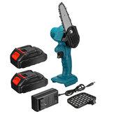 550W 21V 4 `` Mini scie à chaîne électrique sans fil à une main coupe-bois pour le travail du bois avec 1 pc / 2 pièces Batterie