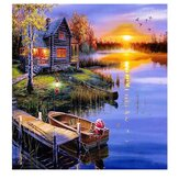DIY 5D Diamond Painting Landscape Art Craft Kit Handmade Wall Decorations Gifts for Kids Adult