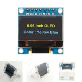 Geekcreit® 7Pin 0,96-Zoll-OLED-Display + transparentes Acrylgehäuse 12864 SSD1306 SPI IIC Serial LCD Screen Module