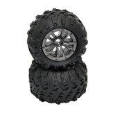 2pcs Xinlehong 9145 1/20 RC Car Wheel Tire Truck Vehicle Models Parts