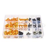 Kit bulloni carena completa Blakc / oro 134 pezzi per Honda CBR600RR CBR900RR CBR1000RR CBR1100XX