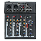 48V Professional 4-Channel Live Studio l'audio Sound Console de mixage USB Mixer