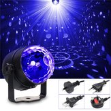 3W UV Purple LED Stage Light Samobieżne / Aktywowane głosem / Migające Crystal Ball Party Disco Club