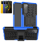 Bakeey for POCO M3 Case Armor Shockproof Non-Slip with Bracket Stand Protective Case Back Cover