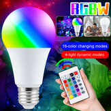 5W 10W 15W RGB E27 LED Globe Light Bulb 16 Color Changing 4 Mode Lamp + 24Keys IR Remote Control AC85-265V