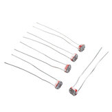 20pcs Light Dependent Resistor LDR 5MM Photoresistor Photoelectric Switch Element Photo Detector 5539