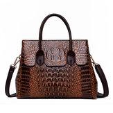 女性レトロクロコダイルパターンハンドバッグ