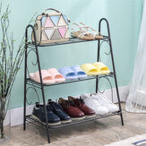 Three Layers of Ironwork Shoe Rack Modern Simple Style Shoe Cabinets