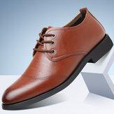 Мужская удобная кожа из микрофибры Soft на шнуровке Деловая повседневная официальная обувь
