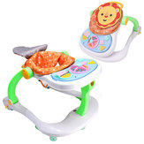 4 in 1 Foldable Infant Baby Activity Music Walkers Kids Educational Toy Walk Tool