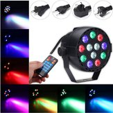 12W RGB Crystal LED Ball Stage Light Modo de voz Controle Remoto Light para DJ Disco Halloween Party