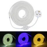 220V LED Lichtbänder Lampenseil 5050 SMD Garten Küche Decking IP65 Wasserdichte Weihnachtslichter
