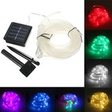 7M 50 LED Solar Wodoodporna lina LED Tube String Fairy Light Xmas Party Garden Decor