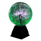 8 Inches أخضر ضوء Plasma Ball Electrostatic Voice Desk Lamp Lamp Magic ضوء