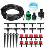 10 / 25m Mangueira Kit de Rega para Gotejador de Irrigação Sistema de Irrigação Automático Kits de Ferramentas de Arrefecimento para Jardim