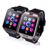 Q18 Smart Watch Bluetooth Scheda TF SIM SMS Monitor di Sonno Pedometro Fotocamera per IOS Android