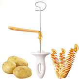 1pc 3 string Rotate Potato Slicer Stainless Steel And Plastic Twisted Potato Slice Cutter Spiral DIY Manual Creative
