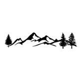 100x20cm autocollant de voiture graphique décalcomanie chaîne de montagnes enneigées pour camping-car camping-car caravane