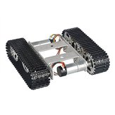 Mini T100 9V Aluminum Alloy Silver Smart Crawler Chassis Car Kit 5KG Max Load with Motors