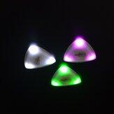 ضغطت ZORY LED إضاءة الغيتار اختيار الغيتار المضيء اختيار لعب الغيتار الملحقات