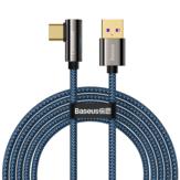 Baseus 66W USB naar USB-C-kabel PD3.0 Power Delivery QC4.0 Snel opladen Datatransmissiekabel Lijn 2 m lang Voor Samsung Galaxy Note 20 Voor iPad Pro 2020 MacBook Air 2020 Mi 10 Huawei P40