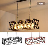 85-265V E27 Industrial Kitchen Pendant 4/6-Light Chandelier Ceiling Lamp Fixture Decor Without Bulb