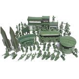 56 Stück Militär Raketenbasis Modell Spielset Spielzeugsoldat Grün 5cm Figur Armee Männer