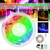 5M RGB 5050 NOT Waterproof LED Strip Light SMD With 44 Key Remote Controller
