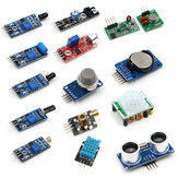 16PCS / Set Para Framboesa Pi Zero W Sensor Kit Módulo Kits Ultrasonic Photoresisto