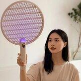 Tapette anti-moustique électrique apaisante LED Lampe anti-moustique anti-mouches Type-C Distributeur de moustique d'affichage intelligent Batterie Rechargeable