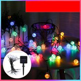 5/7/12m LED Solar Outdoor Waterproof Lamp 2.3cm Diameter Ball Shape Christmas Light String Balcony Garden Decoration Lights Christmas Decorations Clearance Christmas Lights