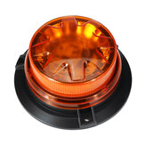 Flashing Beacon Warning Light 360 Degree Rotating Roof Strobe Lamp Yellow Magnet Adsorption for 12V/24V Vehicle