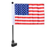 Uniwersalny motocykl motocykl słupek na flagę uchwyt na bagażnik flaga amerykańska / czaszka piracka