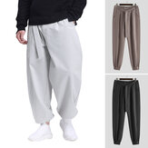 Men Vintage Chinese Style Loose Knotted Casual Pants