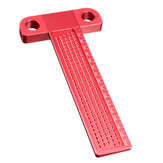 Drillpro Aluminum Alloy T-160 Hole Positioning Metric Measuring Ruler Woodworking Precision Marcking Scriber