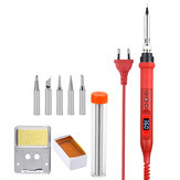 JCD 908U Electric Soldering Iron Tool Kits 100W 220V/110V LCD Lighting Soldeing Station Adjustable Temperature with Solder Holder Tips Wire