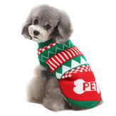 クリスマスのテーマペットセーター犬の猫暖かいニットかぎ針編みのプルオーバーSpringyClothesApparelCoats