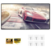 60-120 inch 16:9 HD Projection Screen Folding Portable Anti-Light Soft Screen Home Theatre TV Wall Film Movie Indoor Outdoor Conference for Projector