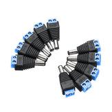10 Pcs CCTV Câmeras 2.1mm x 5.5mm Macho DC Plug Power Adaptador Adaptador Jack Conector Plug Tomada CCTV Câmera de Vigilância de Vigilância LED
