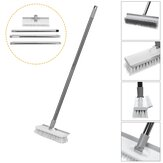 Floor Scourer Cleaning Floor Brushes With Long Steel Handle Plastic Hard Bristles Strong Decontamination for Home Cleaning