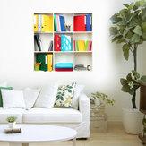 Decalcomanie da muro per scaffali a libro 3D PAG Art