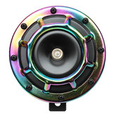 12V 139-170dB Colorful/Green Horn Compact Super Tone Loud Blast Stainless Steel
