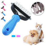 Pet Comb Dual Side Dematting Rake Cleaning Slicker Pet Brush Puppy Dog Cat Fur Shedding Brush